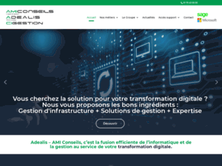 Capture du site http://www.maintenance-informatique-adealis.fr
