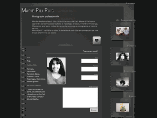 Capture du site http://mariepilipuig.com