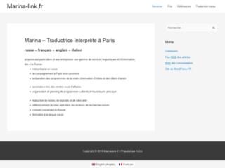 Traduction russe Marina Link
