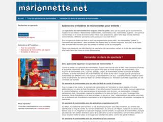 Aperçu du site Marionnette.net