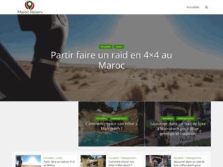 Capture du site http://www.marocreserv.com/