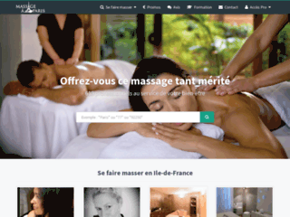 Aperçu du site Massage à Paris