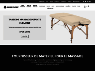 Capture du site http://www.massagefactory.eu/