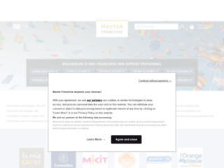 Capture du site http://www.masterfranchise.fr