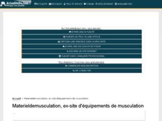Matériel de musculation sur http://www.materieldemusculation.com