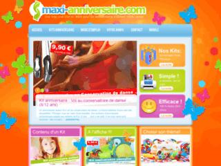 Détails : site web www.maxi-anniversaire.com