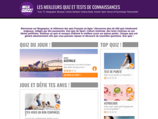 Détails : Megaquizz : Les meilleurs quiz en ligne