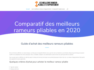 Détails : Top 5 des meilleurs Rameurs Pliables en 2020 : Comparatif & Avis