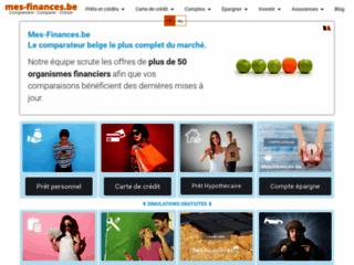MesFinances.be compare les prêts & crédits, les cartes de crédits & comptes épargne en Belgique