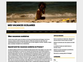 Capture du site http://www.mes-vacances-scolaires.com