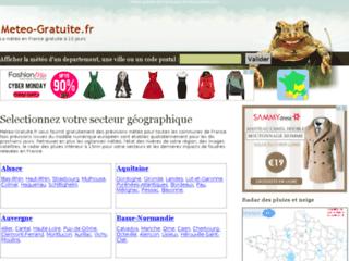 Capture du site http://www.meteo-gratuite.fr