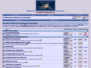 Info: Scheda e opinioni degli utenti : Micimiao.net - Micimiao amici dei gatti e di tutti i gattofili: tutto sui Gatti