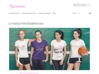 Missmatch : Boutique de vente des tee-shirts de basket  pour femmes