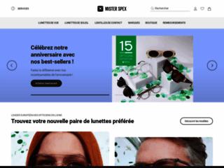 Capture du site http://www.misterspex.fr