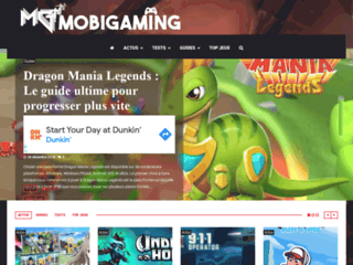 L'actualité et tests de jeux mobiles