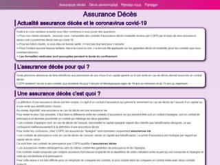 Assurance décès, prévoyance ou assurance prêt sur http://www.mon-assurance-deces.com