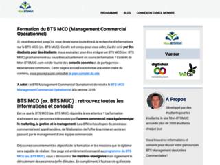 Aperçu du site Ressources sur le BTS MUC