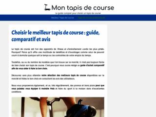 Capture du site http://www.mon-tapis-de-course.fr