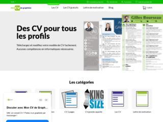 Détails : Modèle de CV design à télécharger et lettre de motivation assortie au format Powerpoint/Word