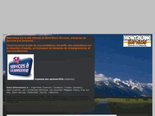 Capture du site http://www.montblancservices.com