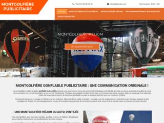 Détails : Structure gonflable montgolfiere