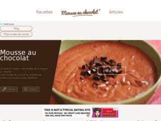 Aperçu du site Mousse au chocolat