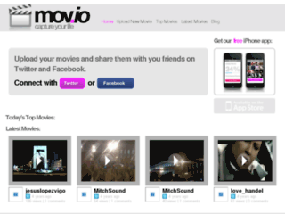 Screenshot du site mov.io sur mov.io