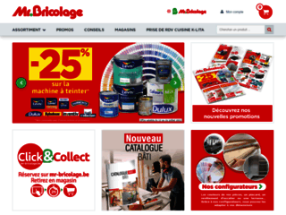 Mr.Bricolage Belgique - vente en ligne de matériels de bricolage, construction et rénovation