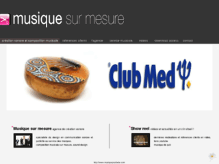 Cr�ation musicale sur mesure
