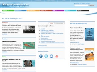 Site d'information pour tous les nageurs sur http://www.natationpourtous.com