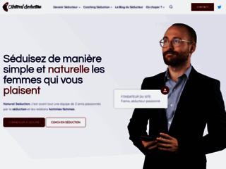 Capture du site http://www.naturalseduction.fr