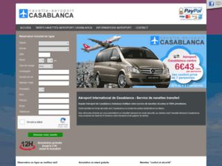 Capture du site http://www.navette-aeroport-casablanca.com