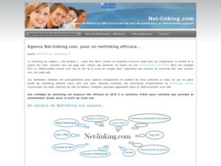 Détails : Netlinking