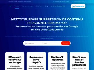 Détails : Des nettoyeurs web à votre service