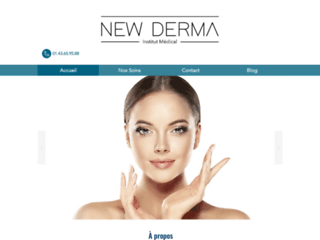 Site internet de New Derma