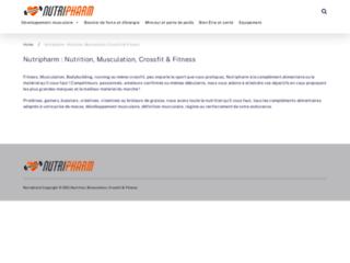 Capture du site http://www.nutripharm.fr/