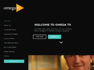 Omega TV, la web TV du mieux vivre sur http://www.omegatv.tv