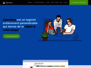 Capture du site http://www.opentime.fr