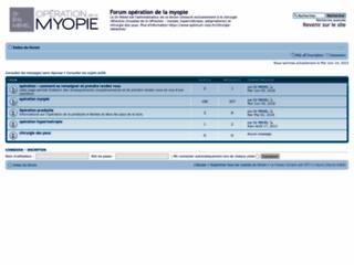 Opération myopie sur http://www.operation-myopie.org/