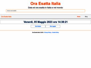 Ora Esatta Italia - oraesattaitalia.com