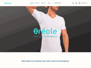 T-shirts anti-transpirants Oréole