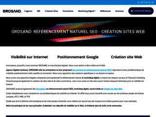 Orosand, agence de référencement naturel et marketing digital