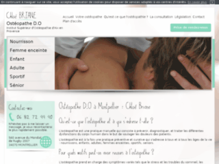 Retrouvez le site internet de votre ostéopathe à Montpellier