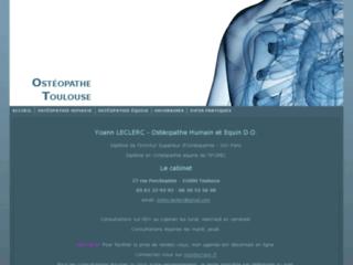 Cabinet d'Ostéopathie sur Toulouse sur http://www.osteopathe-toulouse.fr