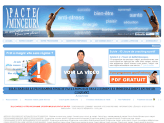 Maigrir avec coach sportif fitness en ligne sur http://www.pacte-minceur.com