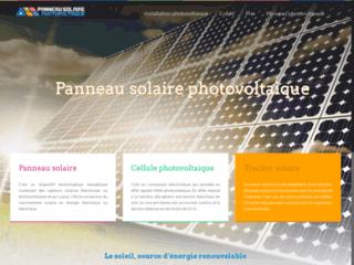 Détails : panneau solaire photovoltaique