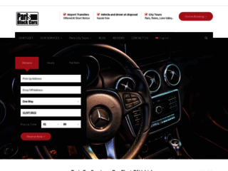 Capture du site http://paris-black-cars.com