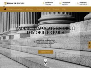 Détails : le site pascalperrault-avocat.fr