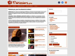 Aperçu du site Patissiers.pro