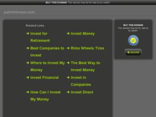 Capture du site http://www.patriminvest.com